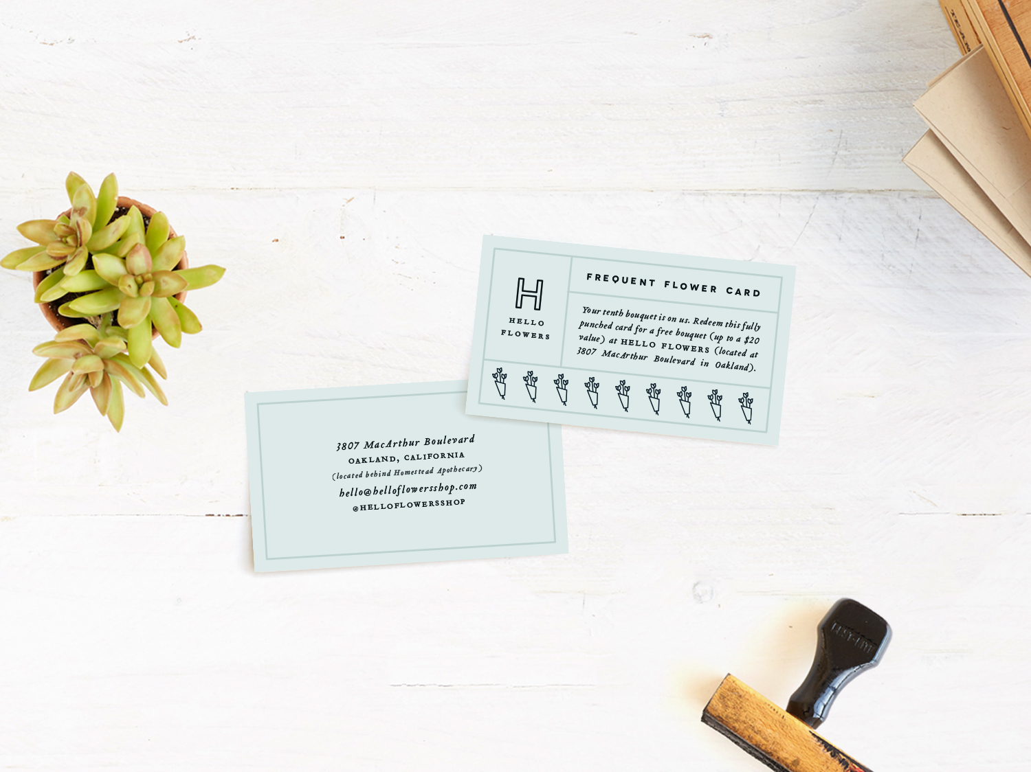 Punch card for Hello Flowers