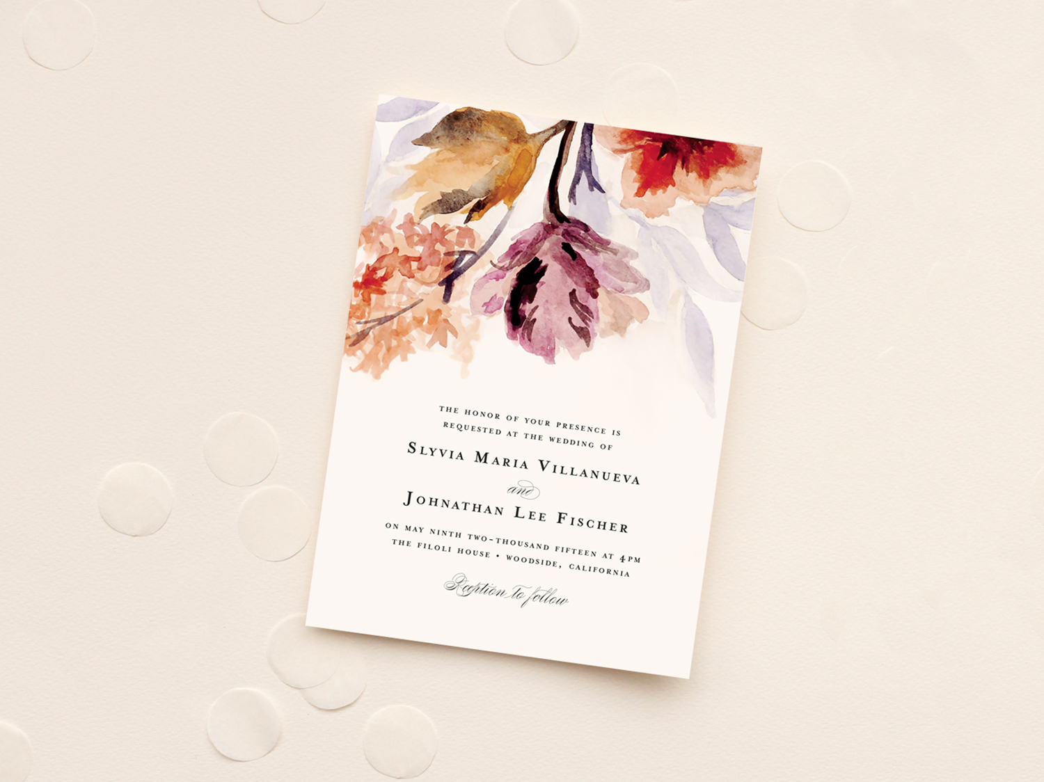 Wedding invitation design and illustration