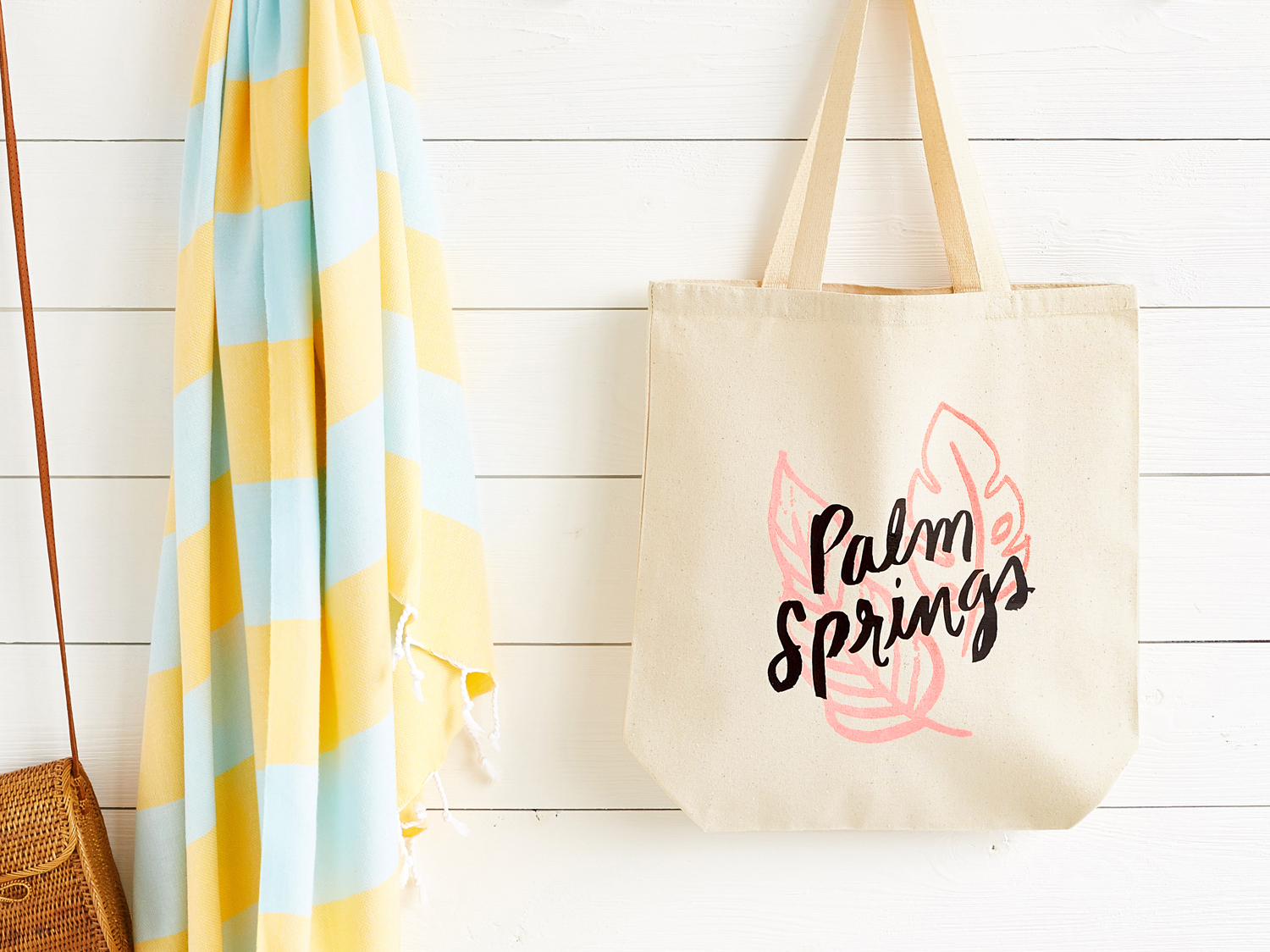 Hand-lettering and illustration for screen-printed bag