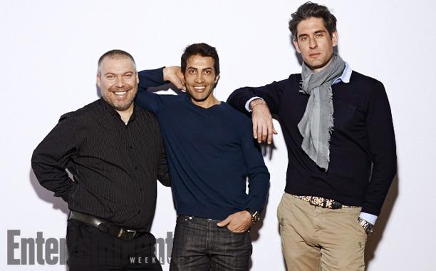 Gonen Ben-Itzhak (left), Mosab  Hassan Yousef (middle), Nadav Schirman (right)