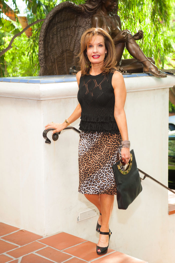 Worth New York Top,  Elizabeth and James Skirt , also available at Yellow Dog, Louis Vuitton Heels, Tom Ford Clutch.