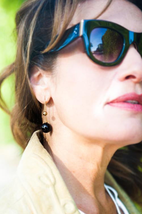 Earrings from  Dixonian  Fine Jewelry, street vendor in Williamsburg.