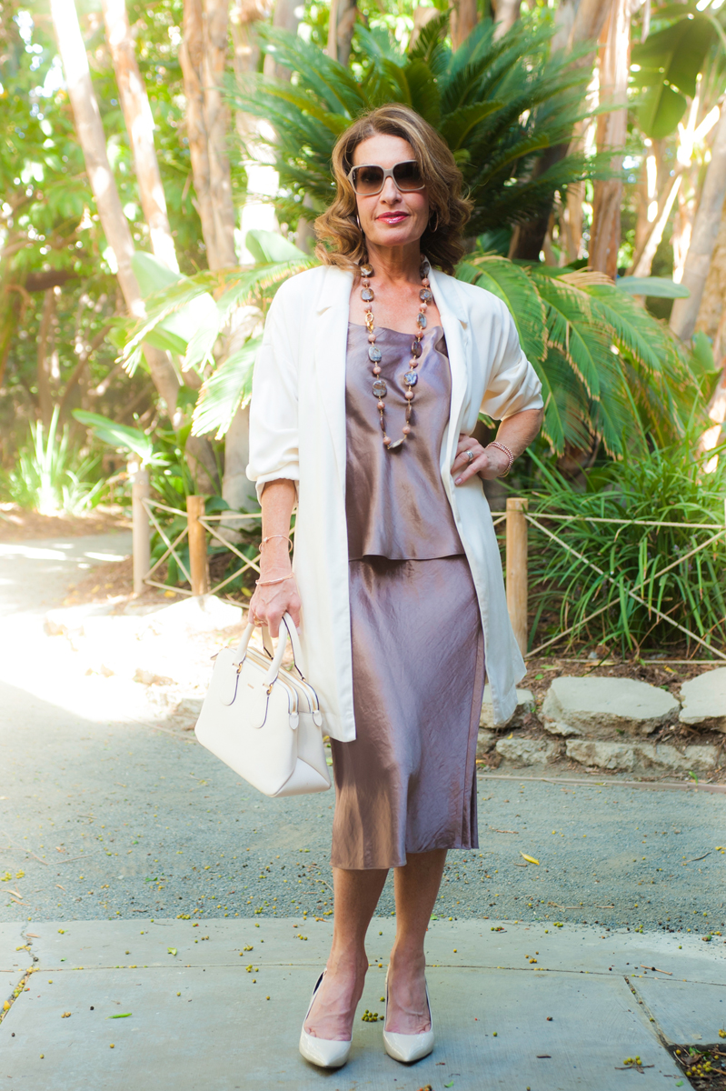 Vince    Top    and    Skirt   ,    American Vintage    Coat, Zara Heels, Bally Handbag, also seen    here   , Jewelry Bar Necklace, Chanel Glasses, Robin Terman Bracelets and Earrings.