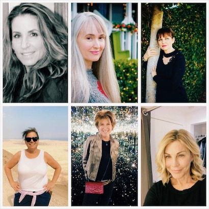 MEET THE WOMEN WHO INSPIRE ME WITH THEIR SPIRIT, DRIVE AND WISDOM  FROM TOP LEFT: ROBIN TERMAN, TRUDY CALLAN, ESTHER FEDER FORM BOTTOM LEFT: LORI TESSEL, TANi ISAACS ANDREA WATERS
