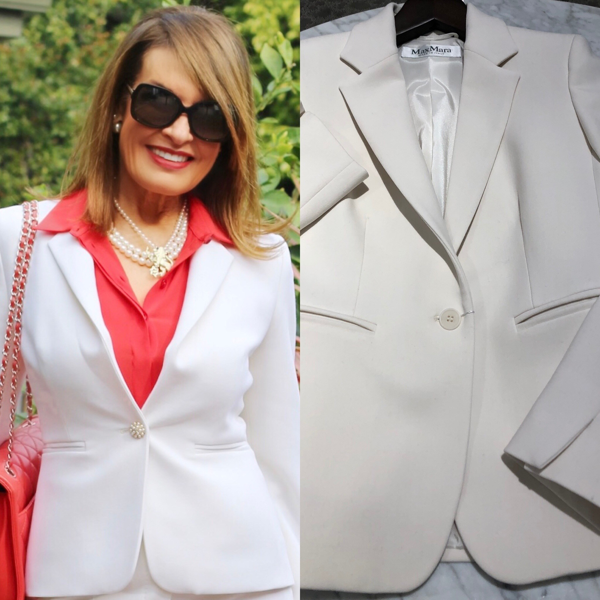 The photo on the right is the jacket with the original button. You can see how enhanced it becomes with the new button!