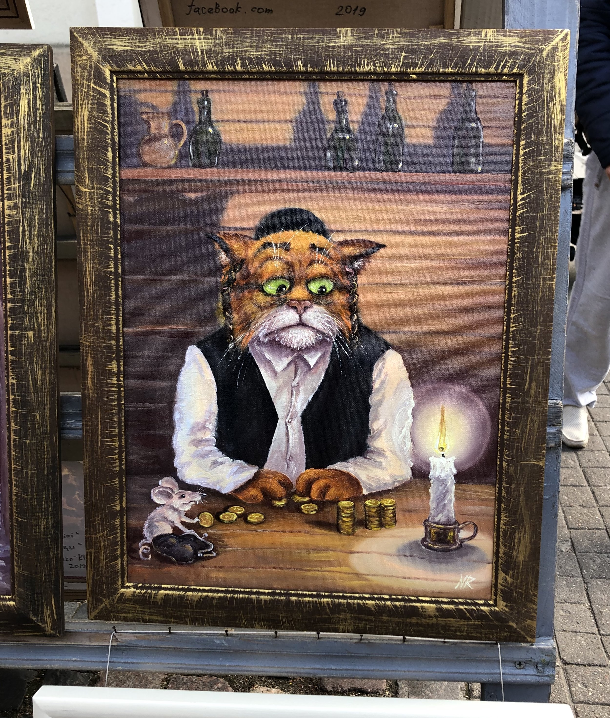 On a walk back to the hotel we came upon this disturbing anti-semitic painting being sold in an open air market in the old town of Vilnius. Moments such as this taint the moments of joy we experienced. To me, this proves that our work is never done until all hatred is eradicated.