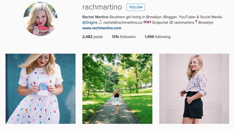 Rach Martino style blogger