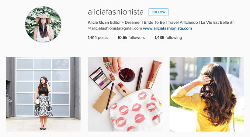 Alicia Fashionista style blogger