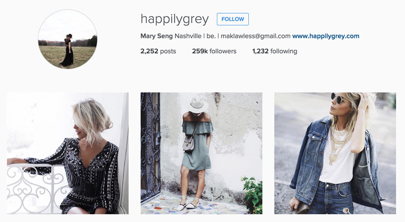 Happily Grey style blogger