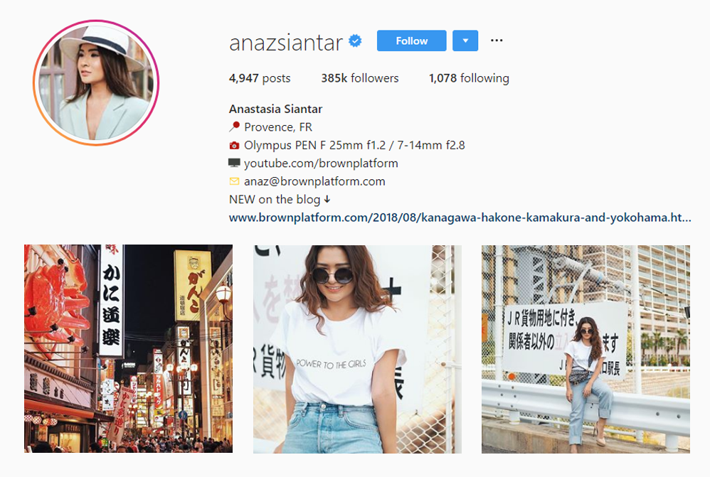 Anastasia Siantar, Indonesia - Asian Influencers - Influencers from Asia