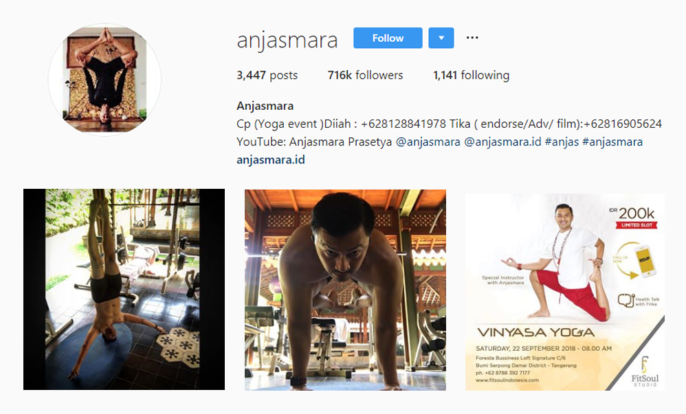 Anjasmara, Indonesia - Asian Influencers - Influencers from Asia