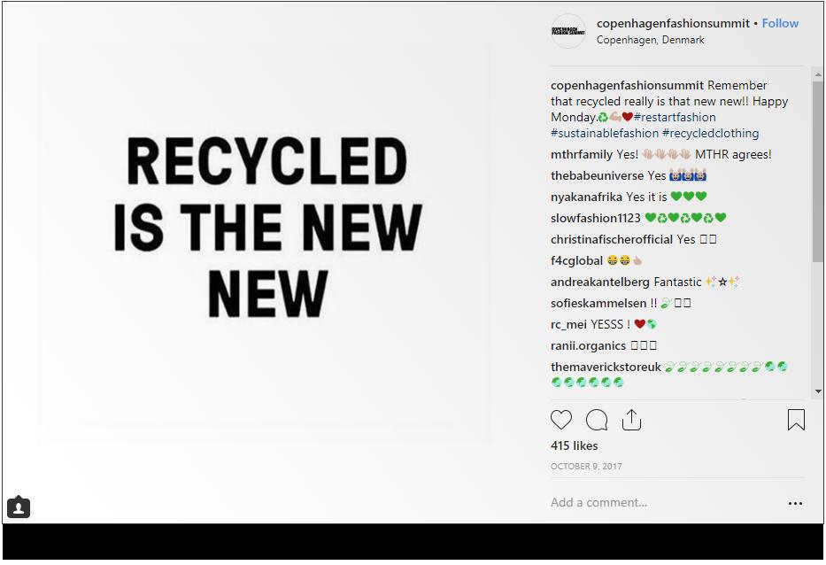 Source:Copenhagen Fashion Summit on      Instagram