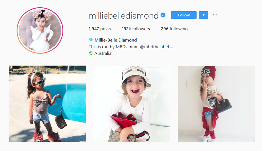 Millie Belle Diamond - Kid Influencers Kid Vloggers