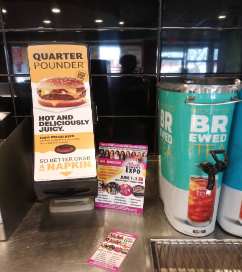 picture of Atlanta Women's Expo poster at McD's