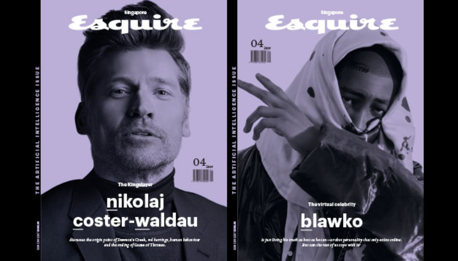 Virtual Celebrity Blawko on the cover of Esquire.png