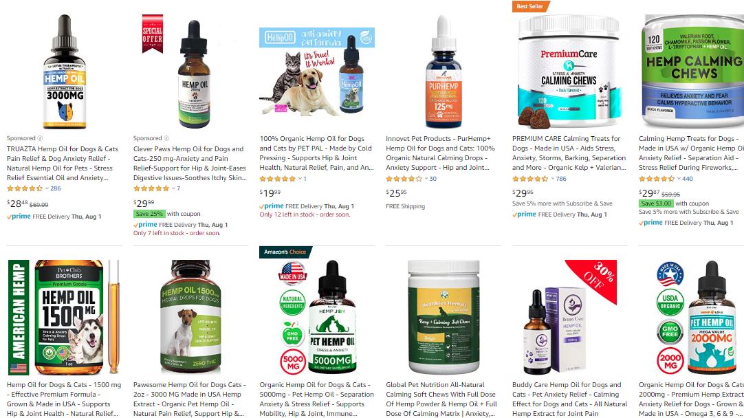 CBD Pet Products on Amazong - CBD Marketing The Shelf.png