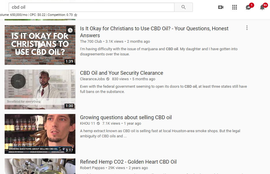 CBD Oil YouTUbe Results.png