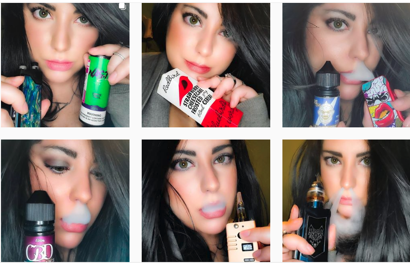 Totally true that @vapingqueen made me click to her account because she's just that darned pretty. I didn't click on any particular picture to see about any products though. Source: On  Instagram