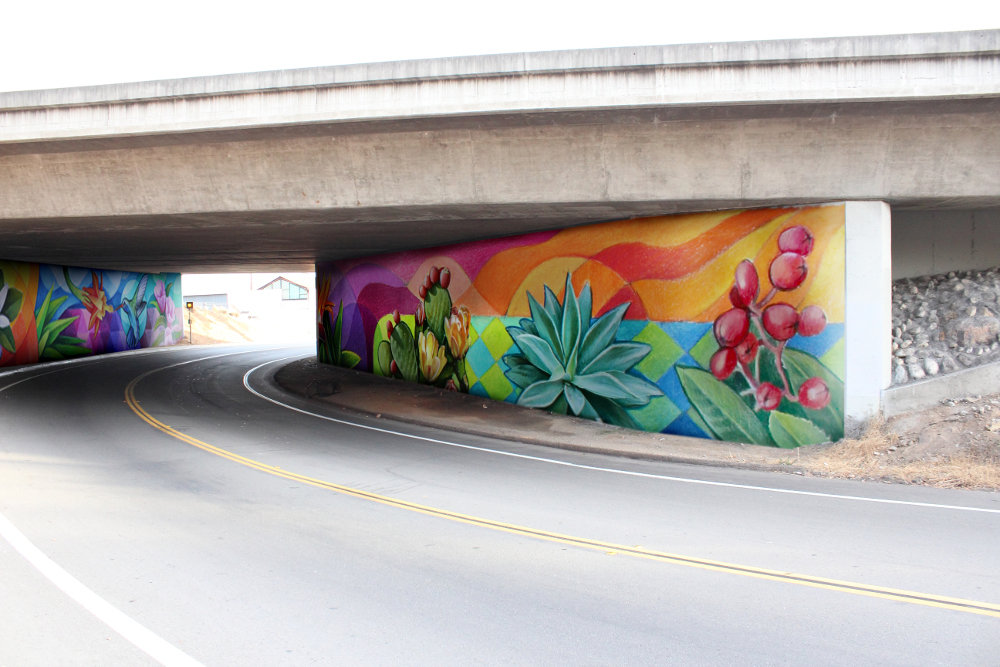 Finished mural in Lemon Grove