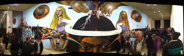 Public unveiling of mural