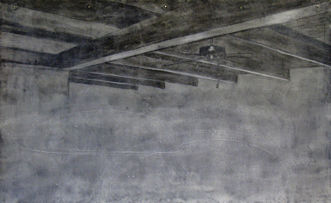 Untitled.   Encaustic, charcoal and graphite on paper. 2012