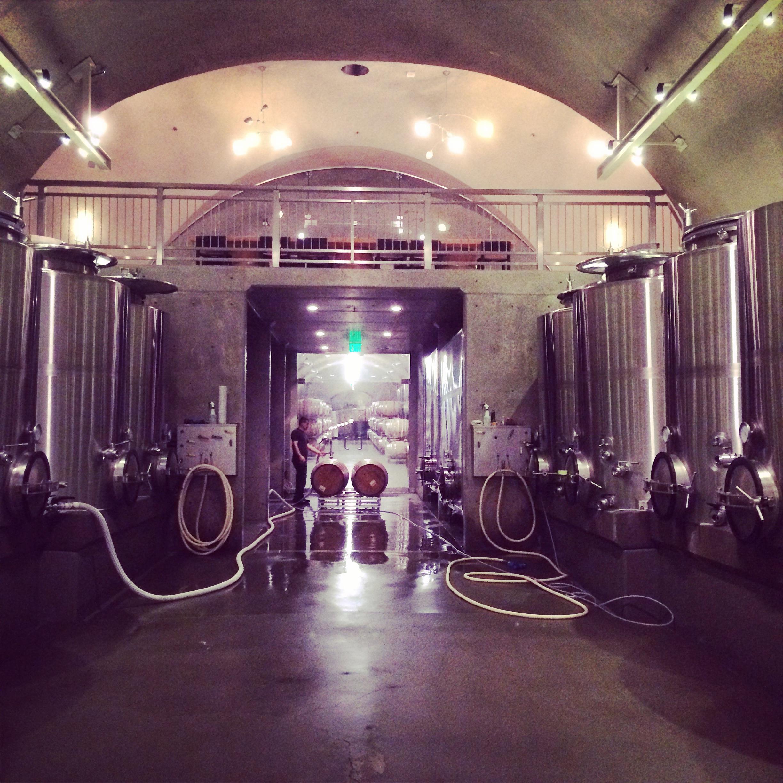 Racking 2013 wine before harvest begins