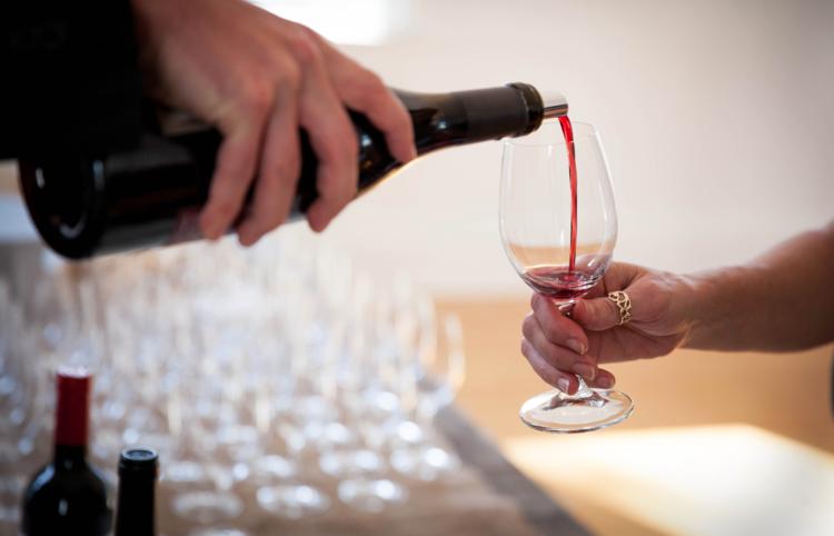 office wine tasting