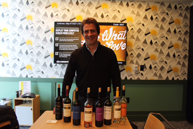 Gunther Di Giovanna presenting his wines at our San Francisco office just a couple of weeks ago.