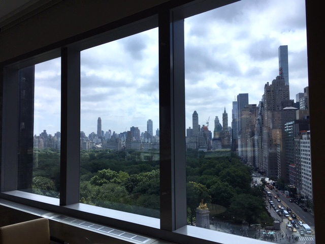 View of Central Park from one of the meeting rooms at  10 on the Park .
