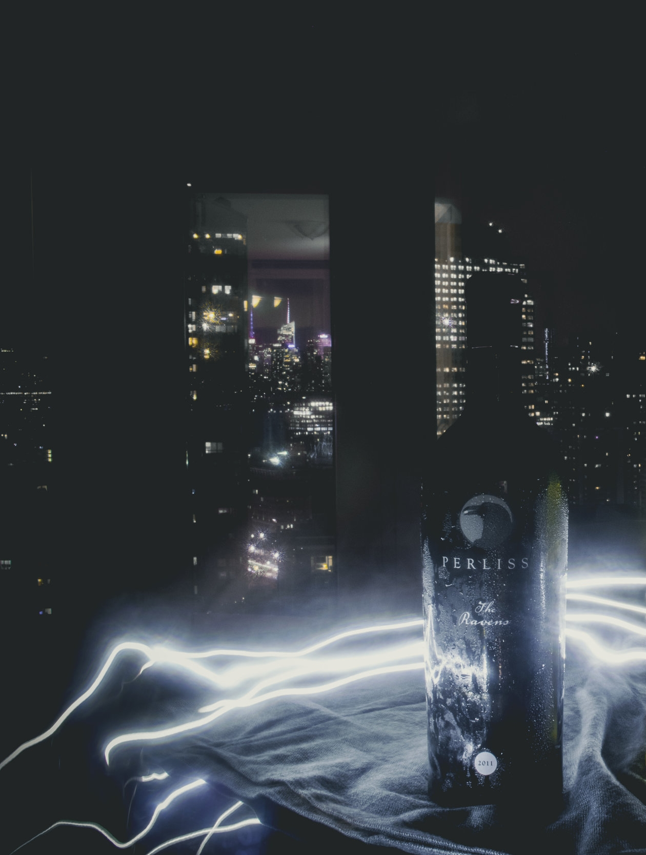 "ART: Dreaming of Dietrich, Grace WINE: Perliss Estate ""The Raven"" Cabernet Sauvignon 2011"