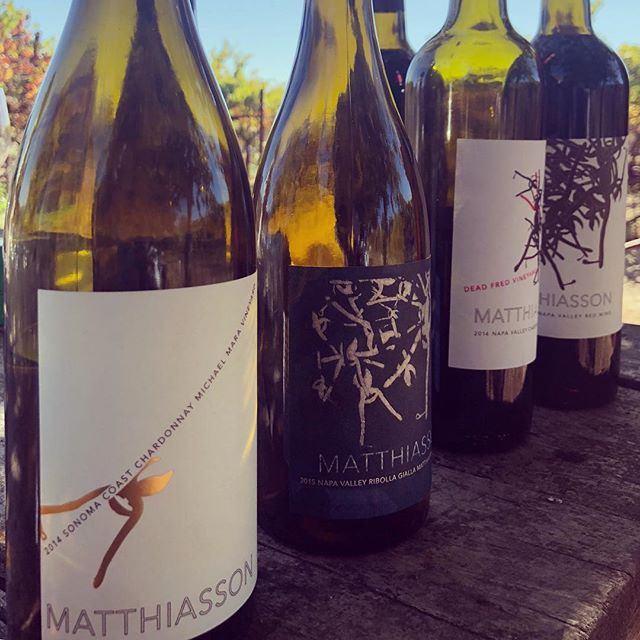 Looking back on a beautiful autumn day at @matthiasson_wine where we were enlightened with Steve's wisdom and spoiled by his yummy slow cooked porchetta. Oh and the wines...so good.