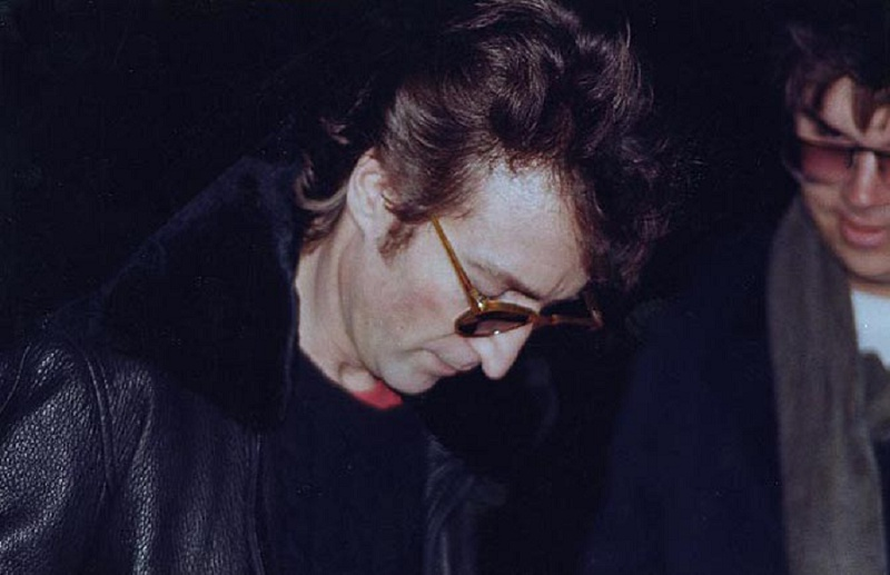 Mark David Chapman asked for John Lennon's autograph outside his Dakota residence.  Several hours later, he would meet him there again and kill him.