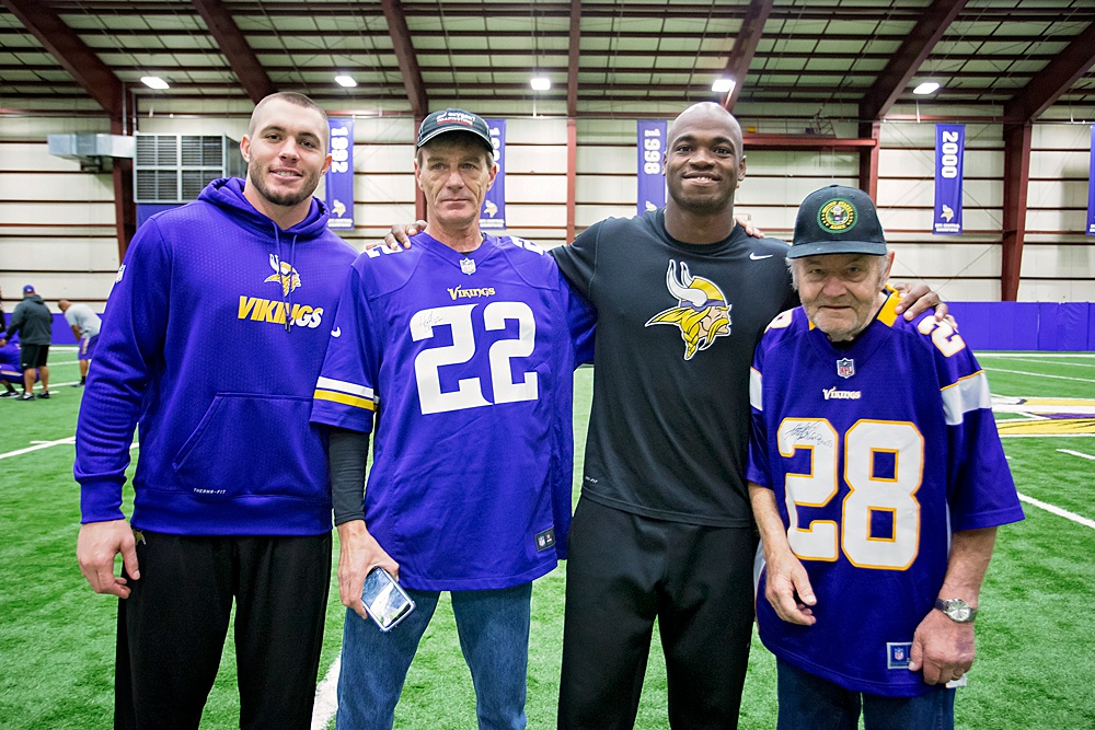 Ford's son Tim also got his jersey signed by #22 Safety, Harrison Smith.