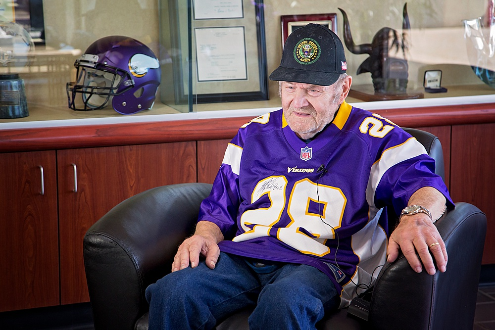 Then the interview turned to speak of Ford's time in service. His eyes dropped and he quieted as he sank into his chair. Seeing the change, I realized that like most audiences, we saw his medals and valore - wanting stories of his time in deployment. Yet, he only saw the battlefield and what dark times transpired during his time in Korea. He son says he doesn't speak of it often and on this day, that remained true.