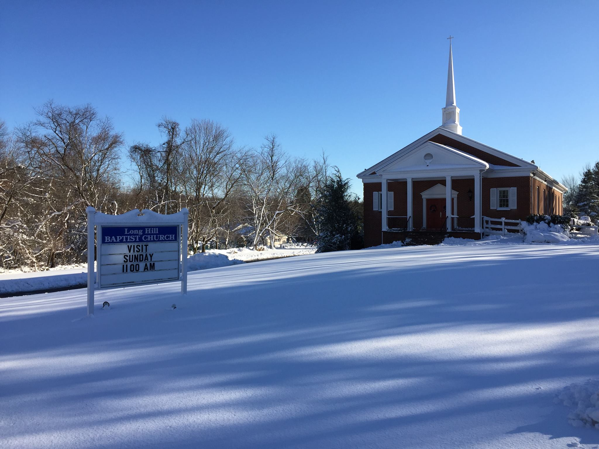 It's a beautiful day at Long Hill Baptist Church!