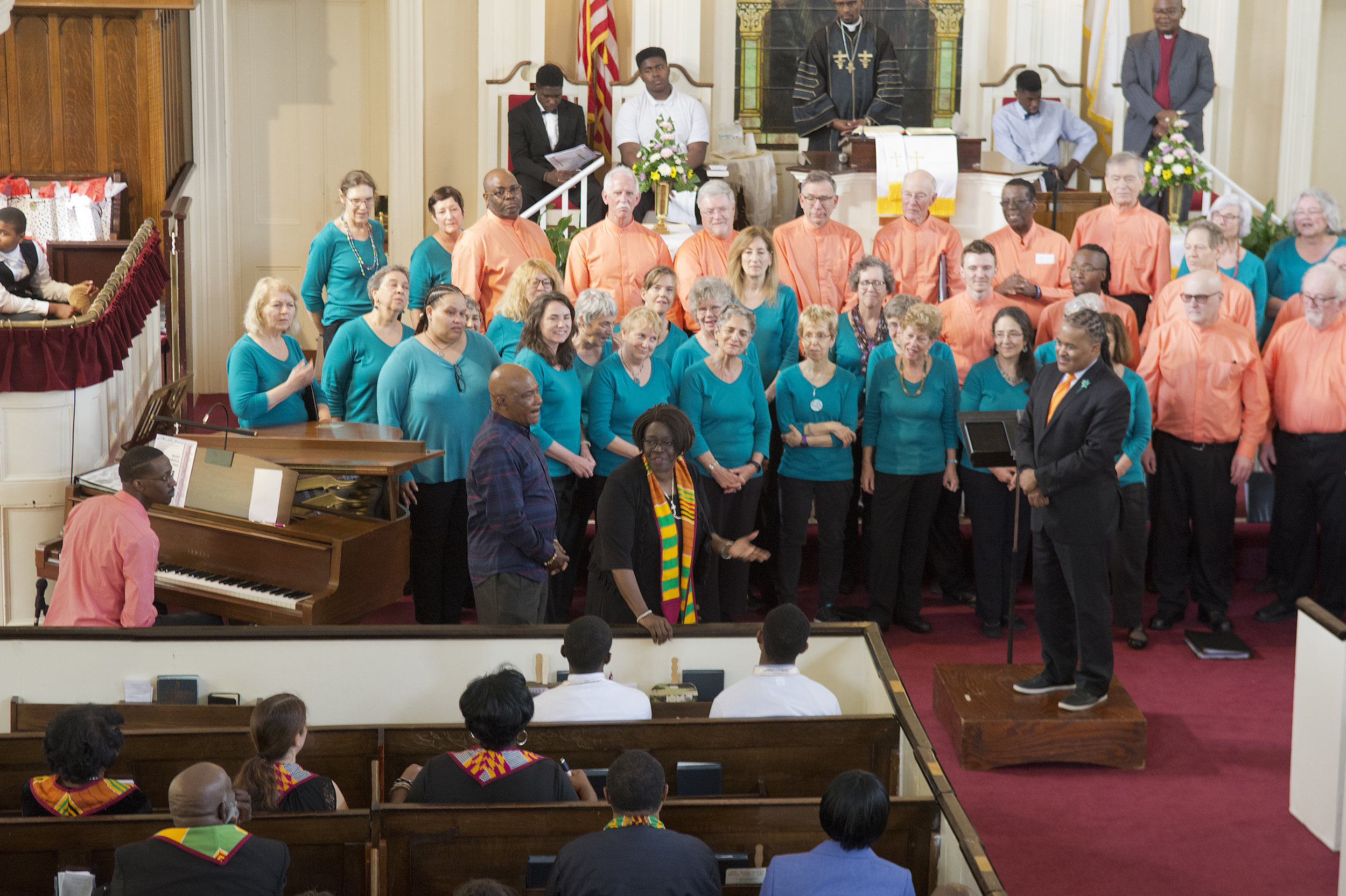 JB Singing at the Mt. Zion AME Church in Charleston