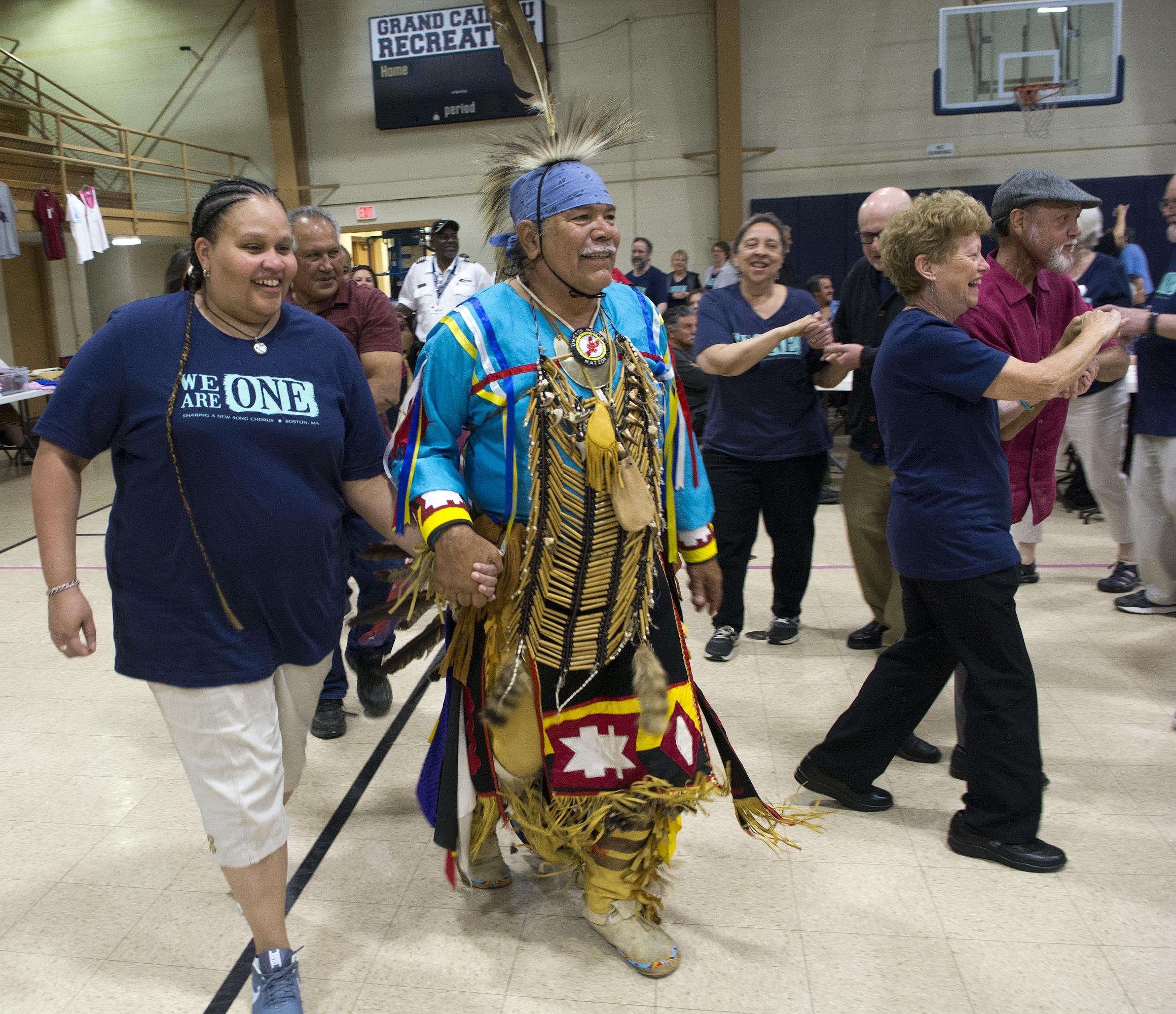 JB Caroline dances with Chief Dardar