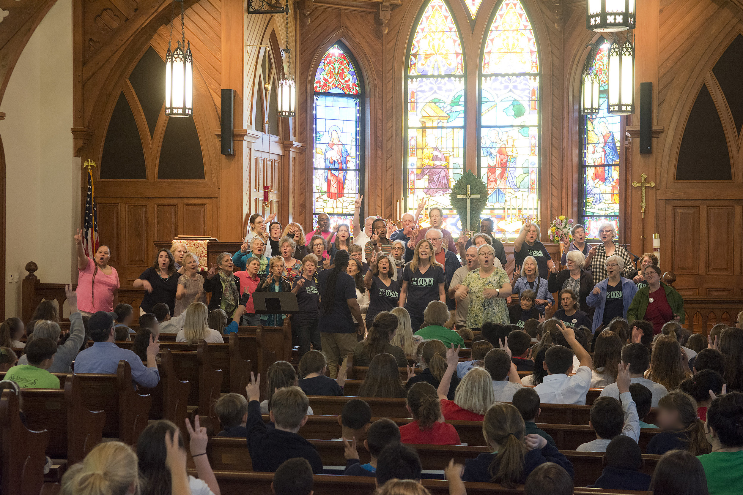 JB Unplanned concert at an Episcopal school