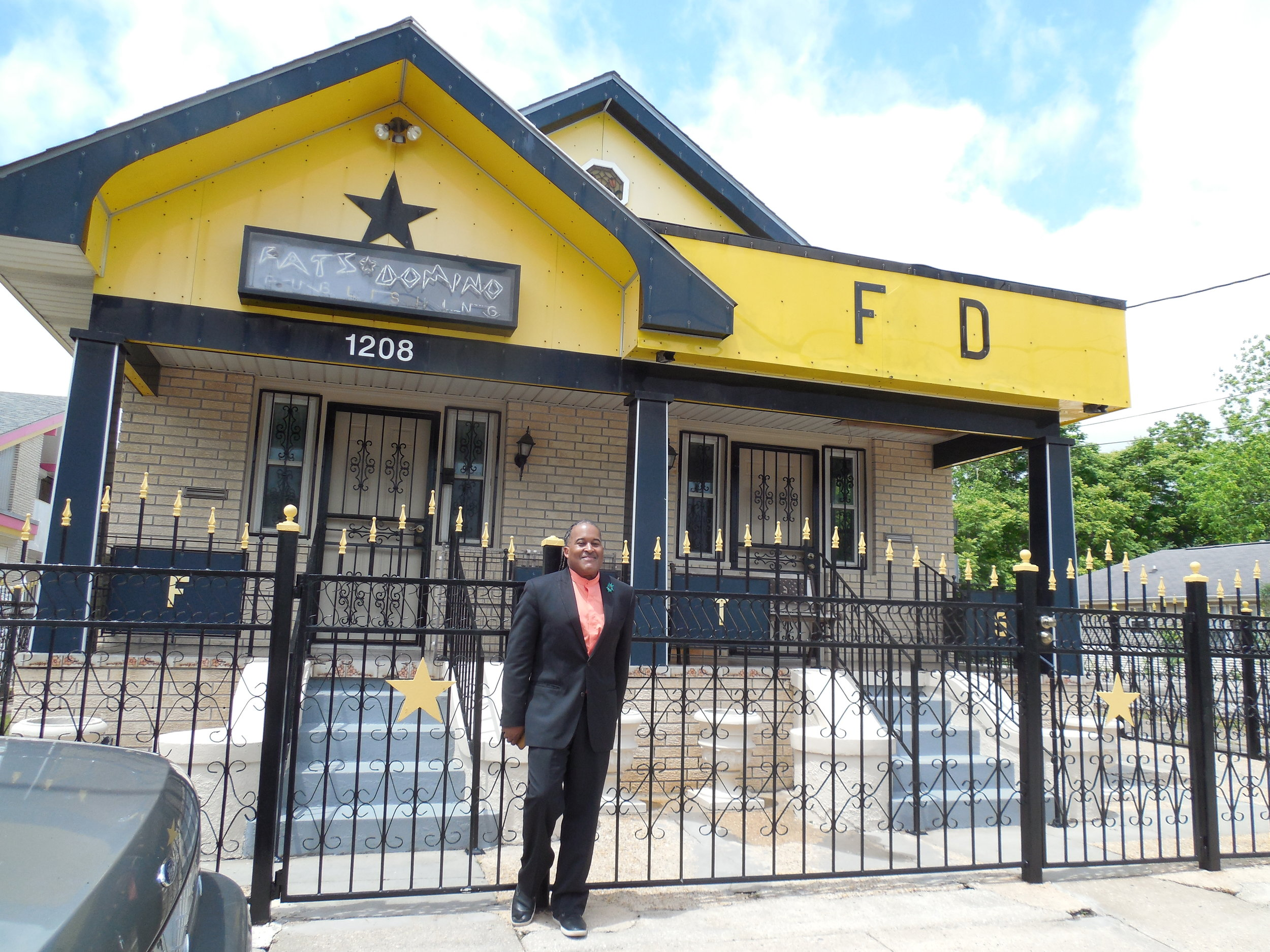 JB Jonathan Singleton at Fat's Domino's house in the 9th Ward