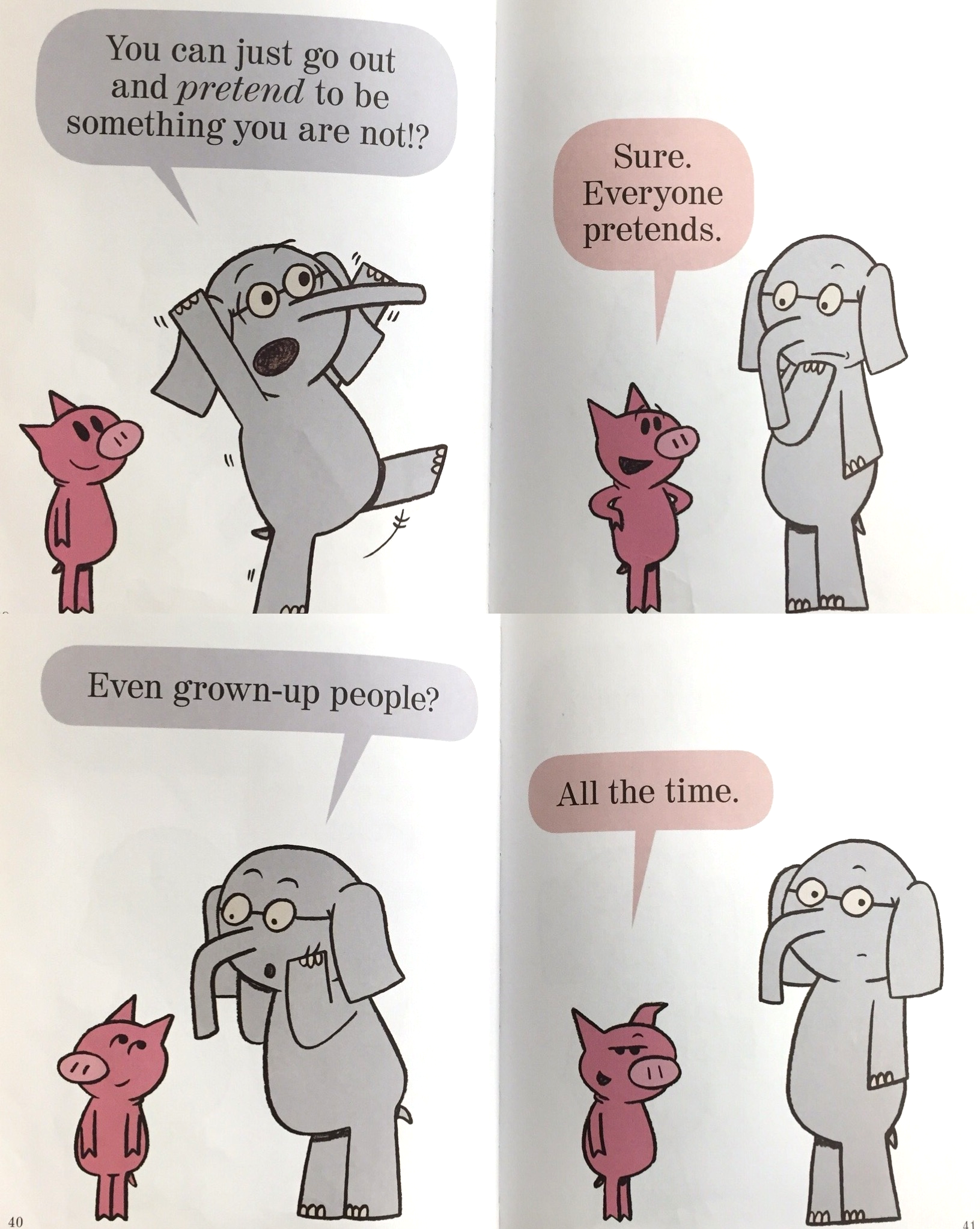 "page excerpts From ""I'm a frog!"" by  mo Willems"