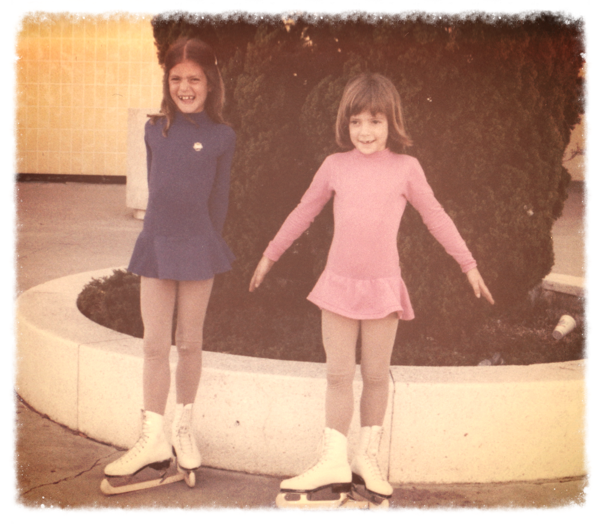 1979 - My sister and I outside the Topanga Mall Ice rink in Woodland Hills, CA