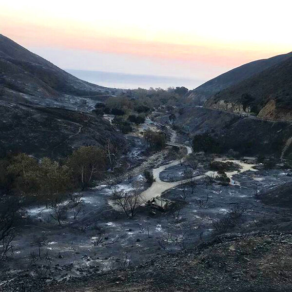 LEO CARILLO STATE PARK CAMPGROUNDS DEVASTATED BY THE WOOLSEY FIRE- MALIBU, CA (📷: SGT. JOHN REGAN, CA STATE PARKS, LIFEGUARD SUPERVISOR, ANGELES DISTRICt)