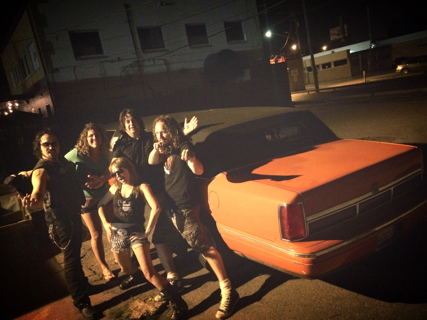 Post-show limo shot with  White Shag