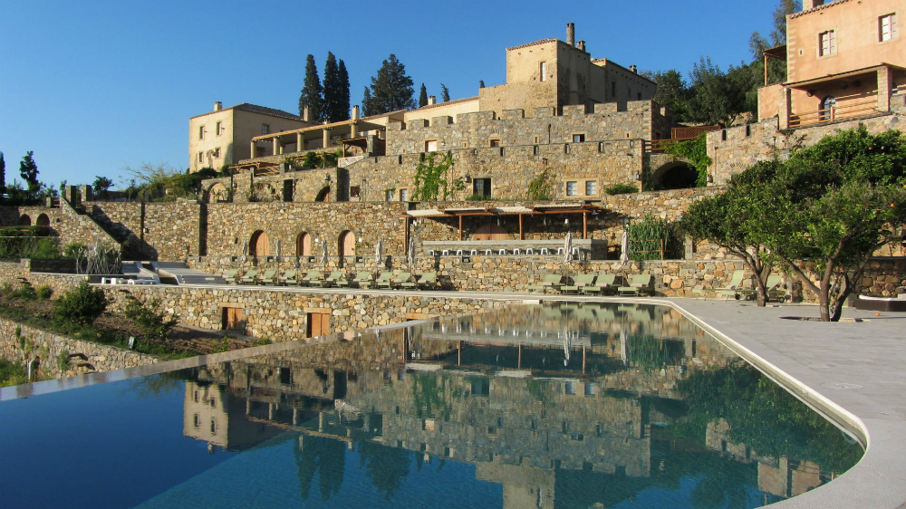 Kinsterna Luxury Hotel Monemvasia Mansion and river pool view.jpg