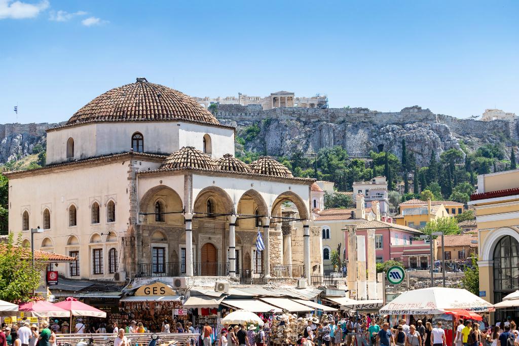Monastiraki Square Athens Summer