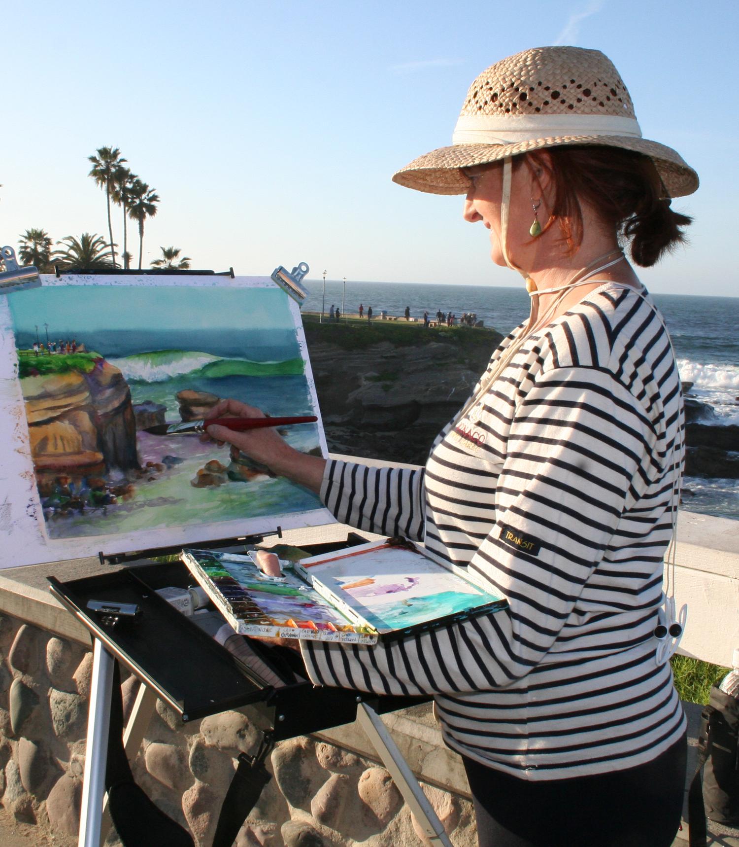 Plein Air Painting at La Jolla Cove  Deirdre O'Byrne