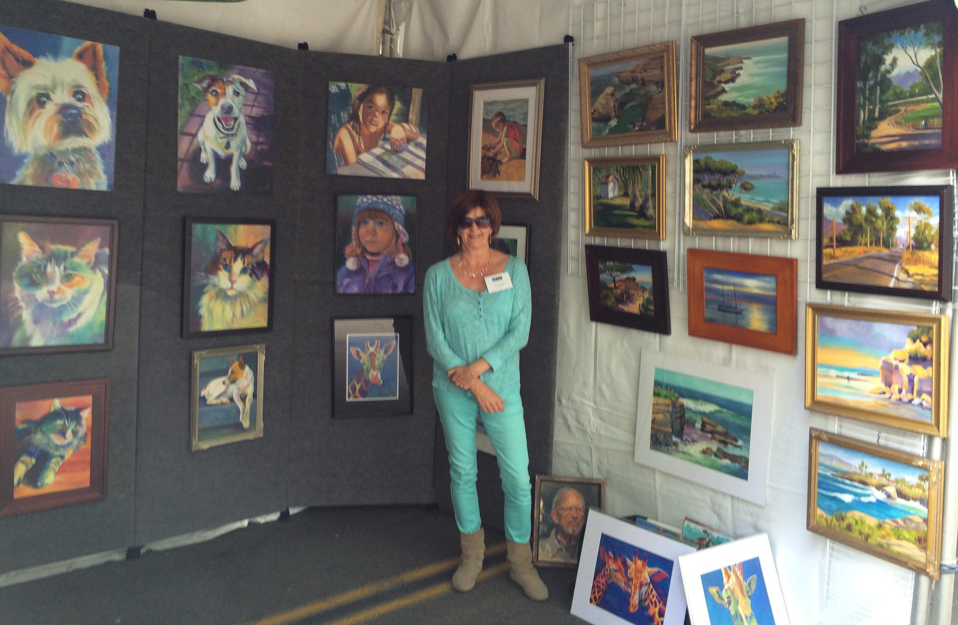 Deirdre at Art Walk 2014