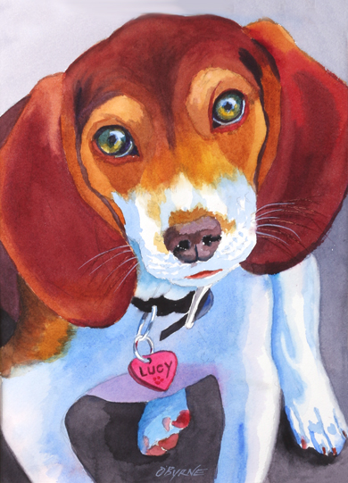 Beagel Painting