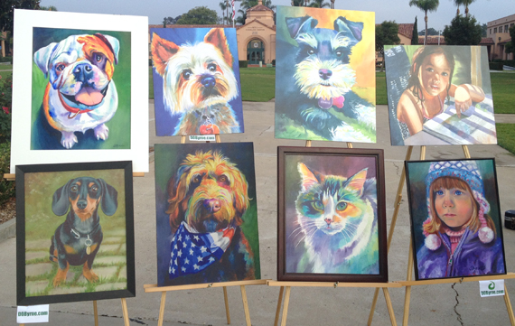 A sample of my custom pet and children commissioned original paintings in Oil or Watercolor