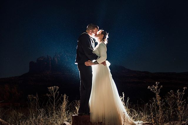 Last wedding of the year was lit in Sedona. Looking forward to 2018. Happy New Years Eve y'all.